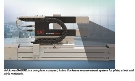 New compact thickness measurement gauge closes the gap between simple thickness sensor solutions and high cost dedicated systems for strip, plate and sheet materials